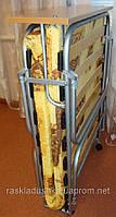 """Раскладушка на ламелях (70*196*34)  с матрасом ППУ 4(поролон 4 см), """"Лебедь Люкс 70"""""""