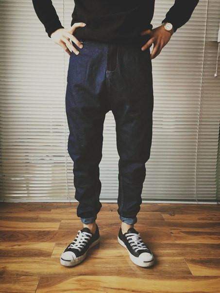 Штаны swag на резинке под джинс