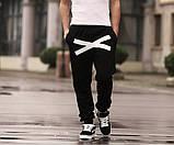 Хлопковые спортивные штаны на резинках XO, фото 2