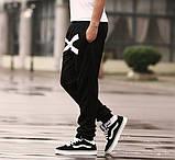 Хлопковые спортивные штаны на резинках XO, фото 5
