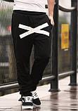 Хлопковые спортивные штаны на резинках XO, фото 6