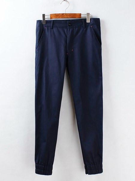 Мужские штаны на резинках с цветным карманом