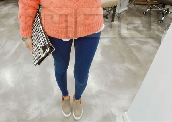 Классические женские джинсы с бархатной подкладкой