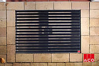 ACO Vario алюминиевая решётка с резиновым покрытием 750х500х20 мм для поддержания чистоты в доме. Чёрний цвет, фото 1
