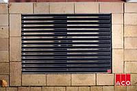 ACO Vario алюминиевая решётка с резиновым покрытием 1000х500х20 мм для поддержания чистоты в доме. Чёрний цвет, фото 1