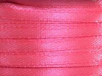 Тесьма атласная 3 мм розовая 99 ярд.