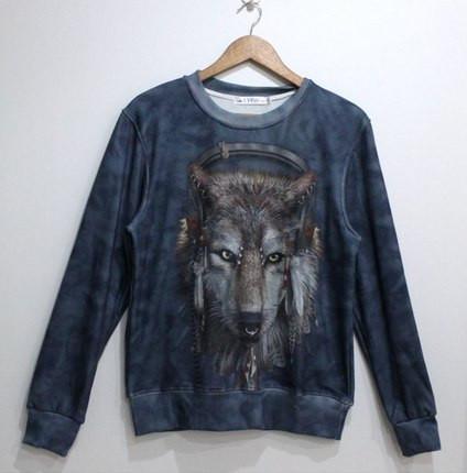 Свитшот с модным волком