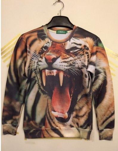Свитшот iSwag с 3D тигром