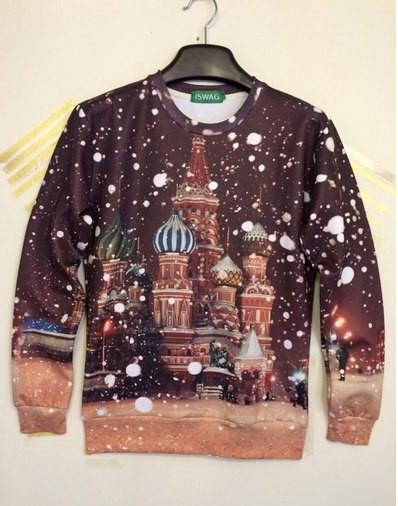 Свитшот iSwag заснеженная Москва
