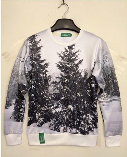Свитшот iSwag зимние елки