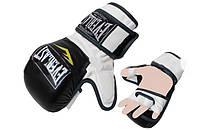 Рукавиці для змішаних єдиноборств MMA PU ELAST BO-4612-BKW (р-р M-XL, чорний-білий)