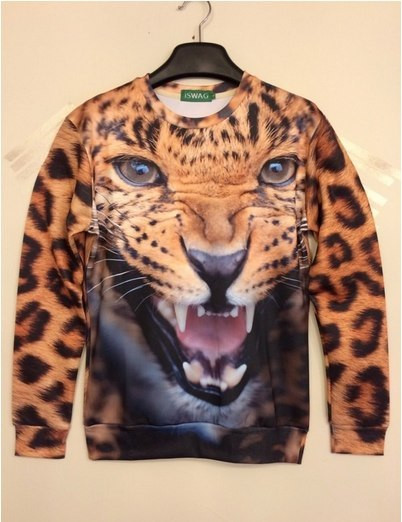 Свитшот iSwag с 3D леопардом