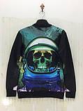 Свитшот Череп космонавт, фото 2