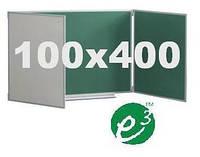 Комбинированная керамическая доска мел/маркер 100х400 см, фото 1