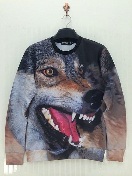 Свитшот с 3D рисунком злого волка