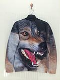 Свитшот с 3D рисунком злого волка, фото 2