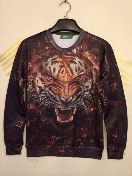 Свитшот злой тигр