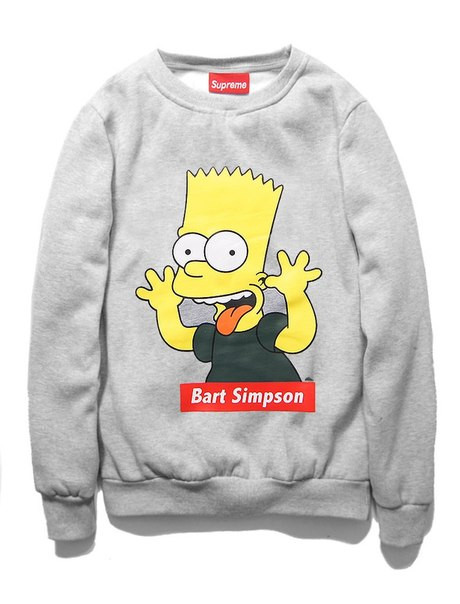 Свитшот Supreme Bart Simpson показывает язык