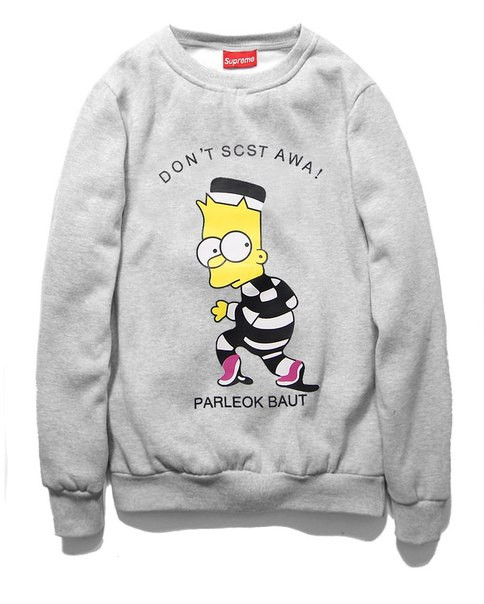 Свитшот Supreme Bart Simpson заключенный