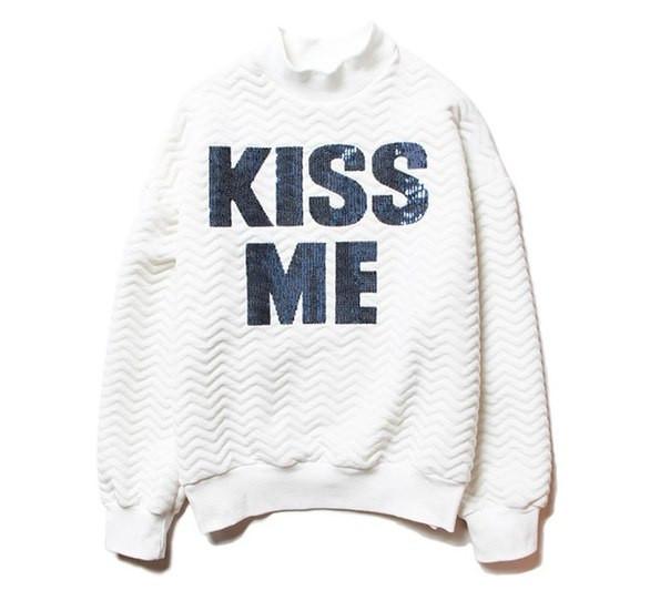 Свитшот KISS ME Gray color