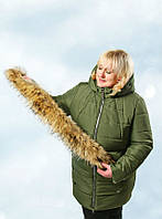 Женская зимняя куртка с капюшоном, фото 1