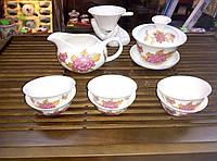 Набор для чайной церемонии из фарфора, 12 предметов, на 6 персон, 100 мл, 125 мл, 25 мл.