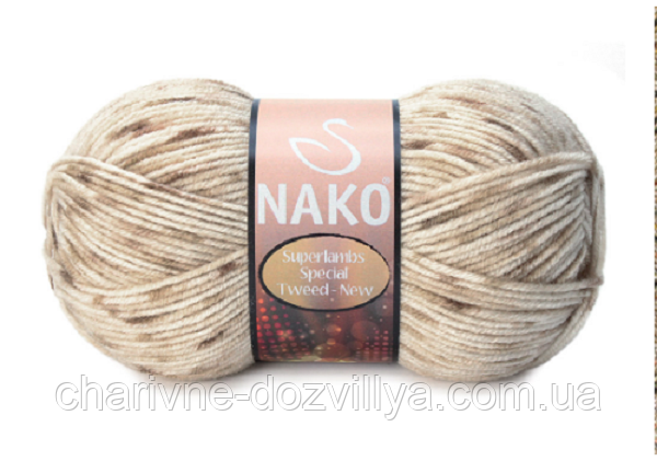 Пряжа для ручного и машинного вязания NAKO Superlambs Special Tweed New (Суперламб Спесиал Твид Нью)
