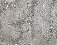 Мишура белая+серебро, 5 см, 1,40 м