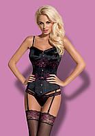 Красивый сатиновый корсет Obsessive Amarone  corset, фото 1