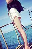 Женские белые рваные шорты, фото 2