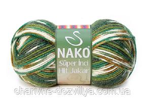 Пряжа для ручного и машинного вязания NAKO Super Inci Hit Jakar (Супер Инси Хит Джакар)
