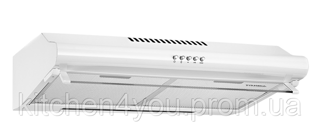 Pyramida WH 22-50 white/N (500 мм.) двухмоторная, плоская кухонная вытяжка, белая эмаль Коричневый