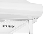 Pyramida WH 22-50 white/N (500 мм.) двухмоторная, плоская кухонная вытяжка, белая эмаль Коричневый, фото 4