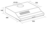Pyramida WH 22-50 white/N (500 мм.) двухмоторная, плоская кухонная вытяжка, белая эмаль Коричневый, фото 5