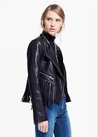 Женская куртка с бахрамой