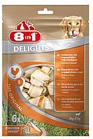 8in1 Delights  S (11см) * 6 шт  кость для чистки зубов у собак с вкусом мяса