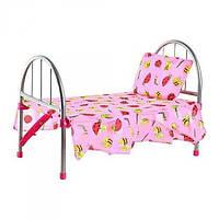 Кроватка для кукол 9342/WS 2772 железная