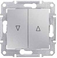 SHNEIDER ELECTRIC SEDNA Выключатель для жалюзи с электр. блокировкой Алюминий