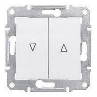 SHNEIDER ELECTRIC SEDNA Выключатель для жалюзи с механ. блокировкой Белый