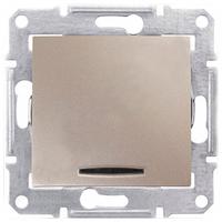 SHNEIDER ELECTRIC SEDNA Выключатель проходной одноклавишный с подсветкой 10А Титан