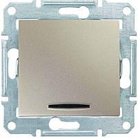 SHNEIDER ELECTRIC SEDNA Выключатель проходной одноклавишный с подсветкой 16А Титан
