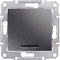 SHNEIDER ELECTRIC SEDNA Выключатель проходной одноклавишный с подсветкой 16А Графит