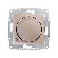 SHNEIDER ELECTRIC SEDNA Светорегулятор универсальный поворотно-нажимной Титан