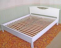 """Кровать белая """"Фантазия"""" (200*160) массив дерева - ольха."""