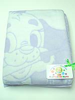 Хлопковое одеяло в роддом (фиолетовый с собачкой)