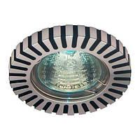 Встраиваемый светильник Feron DL1022 блестящий и черный алюминий