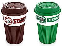 Керамический стакан Starbucks Mod-008 прорезиненный