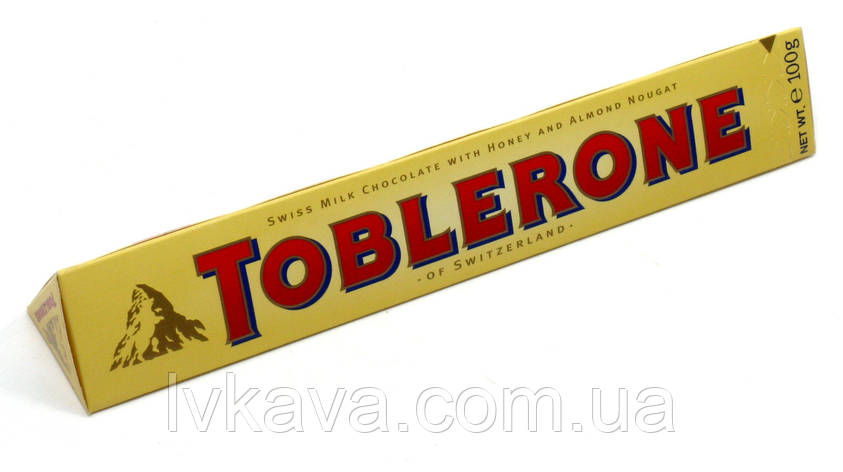 Молочный  шоколад Toblerone  c нугой из меда и миндаля , 100 гр, фото 2