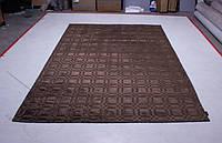 Индийский ковер из 100% вискозы ручной работы темно коричневого цвета