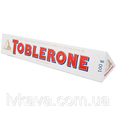 Белый  шоколад Toblerone  c нугой из меда и миндаля , 100 гр, фото 2